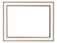 Luxury white leather trimmed frame - stock photo