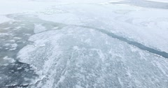 The Ice On The River Stock Footage