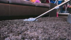 Cleaning room with a vacuum cleaner Stock Footage