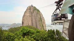 Sugar Loaf Cable Cars Time Lapse - 1080p Stock Footage