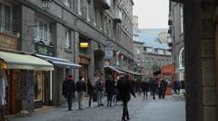 Street in St Malo Stock Footage