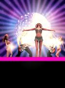 Dancing 3d people - stock illustration