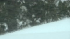 4K Snow Blown by the Wind Snowstorm - stock footage