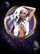 Disco girl Stock Illustration