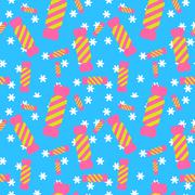 Sweet candy seamless pattern. Colorful sugar wrap paper - stock illustration