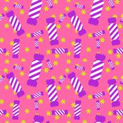 Sweet candy seamless pattern. Colorful sugar wrap paper Stock Illustration