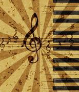 Grunge music background Stock Illustration