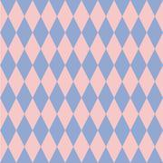 Rose quartz and serenity rhombus backdrop. Vector illustration. Seamless patt Stock Illustration