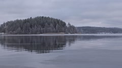Ladoga freezing over. Stock Footage