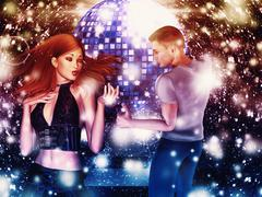 Man and woman dancing Stock Illustration