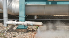 Hot steam blowing from pipe - stock footage