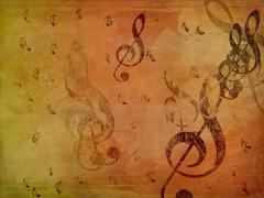 Music notes on paper Stock Illustration