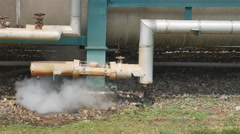 Hot steam blowing from pipe Stock Footage