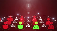 Social media networking_connection 4K Red Back Stock Footage