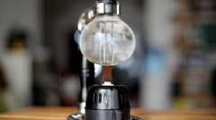 Making coffee with siphon pot Stock Footage