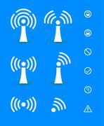 Wi-Fi Transmission of Data. Vector Illustration - stock illustration
