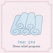 Stock Illustration of Hand drawn Thai massage and spa design elements.