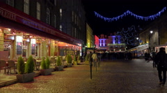 St Malo, France at Christmas Stock Footage