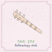 Wooden tool for Thai massage. - stock illustration