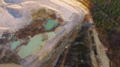 Kaolin quarry and ceramics factory. - stock footage
