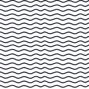 Hand drawn seamless indigo irregular wave line texture Stock Illustration