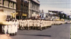 USA Air Force Soldiers March Military Parade 1960s Vintage Film Home Movie 9170 Stock Footage