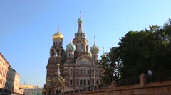 St Petersburg Spilled Blood church Stock Footage