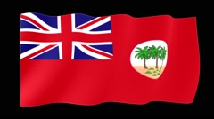 Stock Video Footage of Red flag of Colonial Samoa.  Waving (PNG) computer animatie.