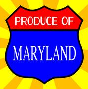 Produce Of Maryland Shield Stock Illustration