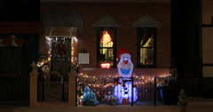 Best of Bed-Stuy's domestic xmas light decorations Stock Footage