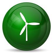 Windmill icon. Internet button on white background.. Stock Illustration