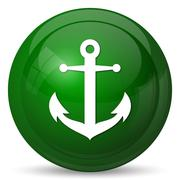 Stock Illustration of Anchor icon. Internet button on white background..