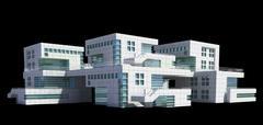 Futuristic architecture - stock illustration