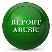 Report abuse icon. Internet button on white background.. - stock illustration