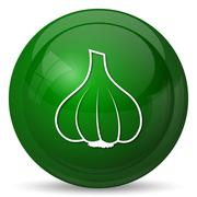 Garlic icon. Internet button on white background.. - stock illustration