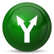 Stock Illustration of Split arrow icon. Internet button on white background..