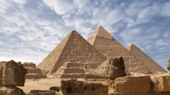 Pyramids of Egypt time lapse Stock Footage