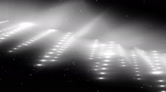 Silver Flood Lights Disco Music Background. - stock footage