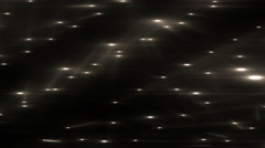 Gold Flood Lights Disco Music Background. - stock footage