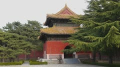 Changling Tomb - Stele Pavilion Stock Footage