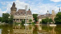 Vajdahunyad castle, budapest, hungary, 4k Stock Footage