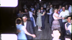 People Country Western Square BARN Dance 1950s Vintage Film Home Movie 9175 Stock Footage