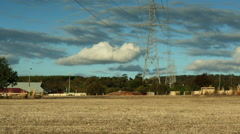 Powerlines and an epic storm Timelapse - stock footage