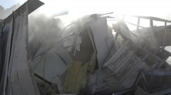 Smoke comes out of the rubble Stock Footage