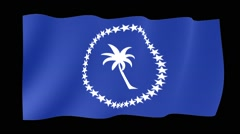 Flag of Chuuk.     Waving flag (PNG) computer animatie. Stock Footage