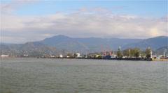 Georgia, Batumi, marine port Stock Footage
