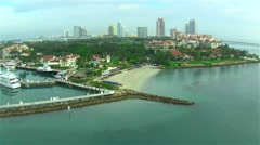 Aerial Miami expensive boats Stock Footage