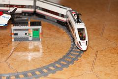 LEGO City High-speed Passenger Train - stock photo