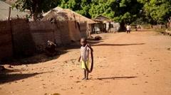 Africa kid native village Stock Footage