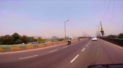 DRIVING THROUGH MUMBAI [Stabilisation; LUT] Stock Footage